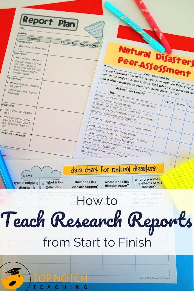 Students are often most used to creative writing activities, that ask them to write from their own imagination or experience, but research reports ask them to do something different. Instead of drawing from what they already know or can imagine, they need to ask and answer questions with supporting data and information.