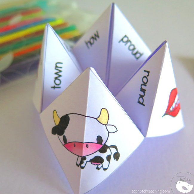 Literacy resources like games, worksheets, fortune tellers and posters all help students develop the segmenting and blending skills they need to read.