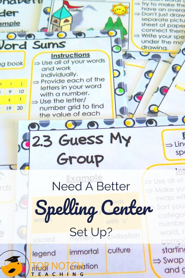 I like to encourage my students to use higher-order thinking in my classroom – including in my spelling center. I know, spelling seems like it's all about memorizing rules, but when students use other levels of thinking, their spelling improves too. My spelling center is designed around the Three-Story Intellect.