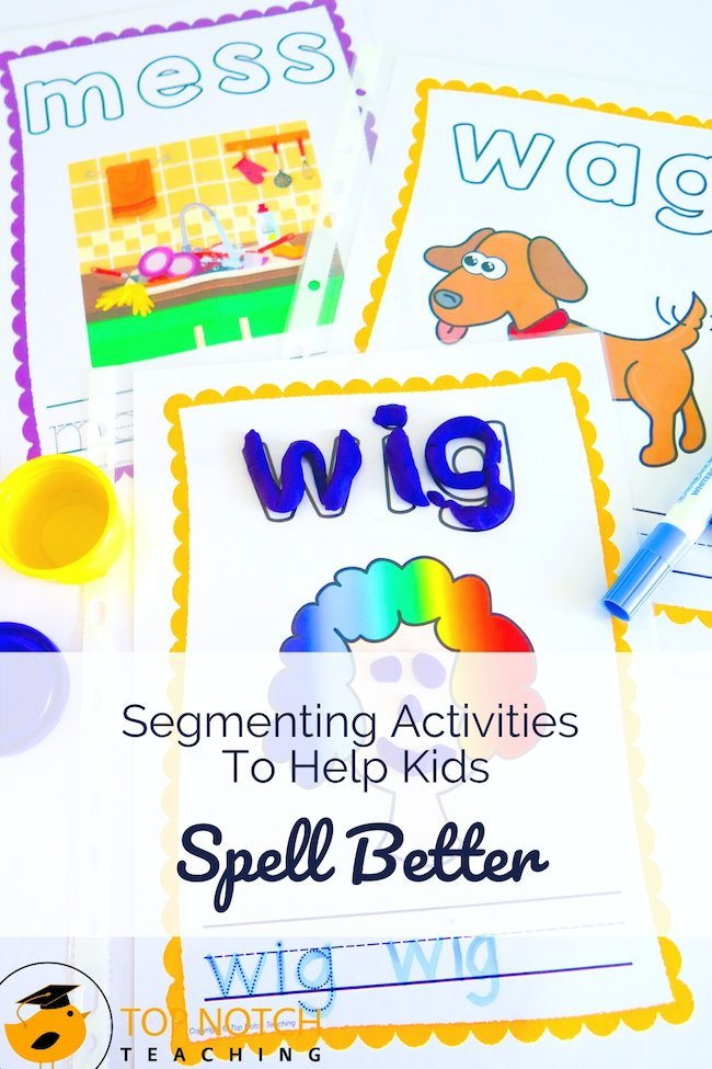 Spelling and segmenting (along with its partner blending) go hand in hand. In segmenting, students pull apart sounds, while in blending they put them together. Both are essential for spelling and reading. Practicing how to separate and identify sounds helps students grasp how sounds and letters work together and helps them spell better. Let's take a look at segmenting activities to help kids spell better.