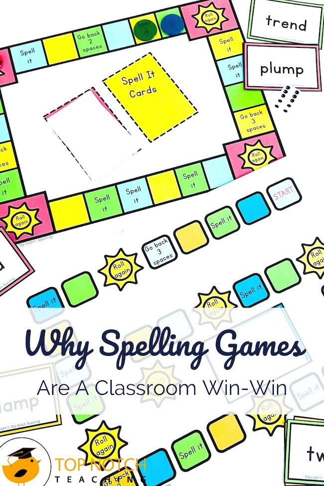 The most obvious reason to use spelling games in your classroom is that kids love games. But beyond that? Spelling games give students a chance to spell and check their words, often multiple times. Spelling games also allow students to practice a variety of skills, like segmenting, blending, and manipulation, saying both words and sounds, reading and writing.