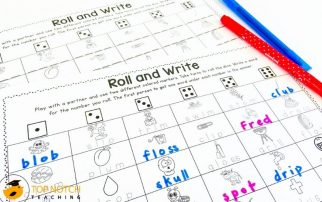 Your beginning readers are going to LOVE these Phonics Roll and Write Games for spelling. They're perfect for first grade students and struggling readers.