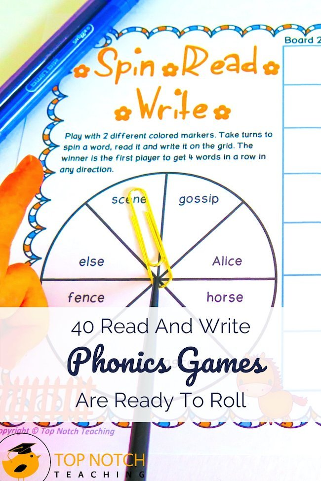 Looking for a way for students to practice alternate spellings of common sounds like /ae/ or /er/? Spin, Read & Write phonics games are just what you need in your teaching tool kit. It's a great addition to your phonics center or to use as an option for partner work, providing needed practice with reading and writing words of target sounds.