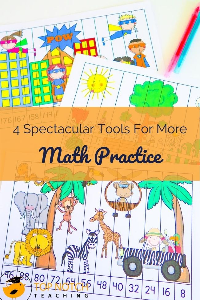 Are you getting kids back up to speed on math topics like basic functions such as addition, subtraction, multiplication, and division after too much time away from the classroom? Introducing or expanding on topics like place value, skip counting or mental math? Your students will need plenty of math practice. Having a variety of tools for math practice has benefits. Here are some tools for math practice I love having in my math toolbox!
