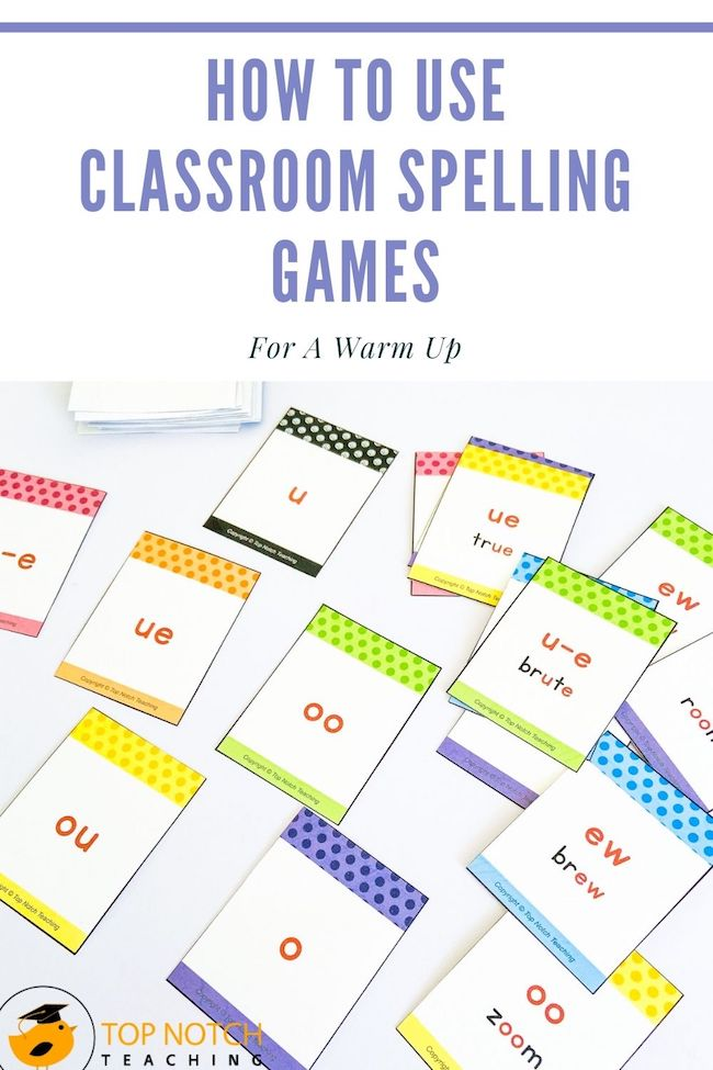 Well thought out classroom spelling games give kids a different way to engage with spelling words and patterns like multiple spellings for the same sound.