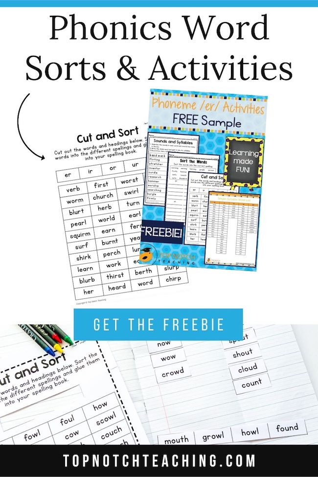 Word sorts can give students practice spelling, noting spelling patterns, writing and reading. Check out these word sort activities (and grab a freebie).