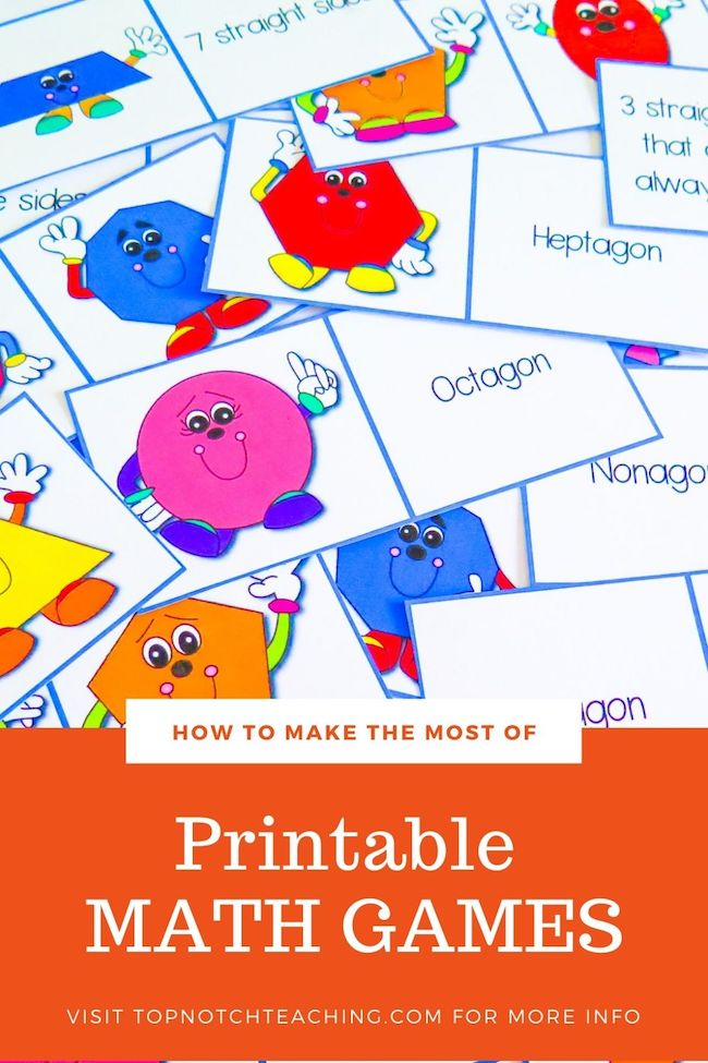 Printable math games should have a place in your class as they provide practice that doesn't feel like a chore. Here are 3 games to help make math fun.