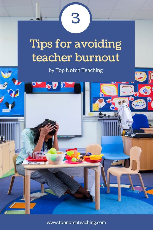 """In """"normal"""" times, teaching stress and burnout are real and common. We need to watch for teacher burnout—and take steps to avoid it. Here are 3 tips."""