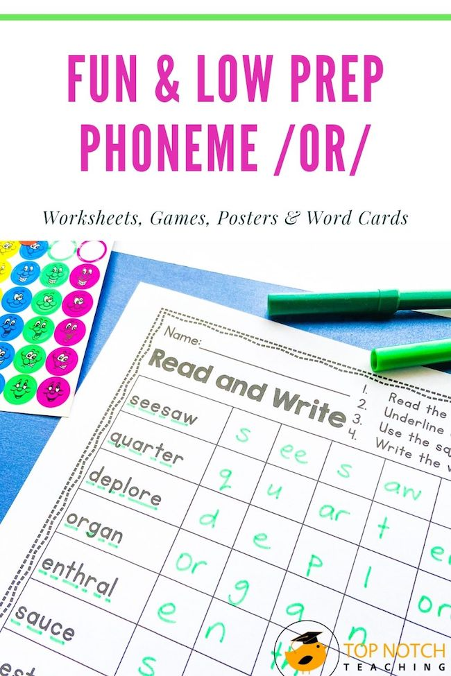 This NO PREP Phonics pack will help your students master or words. It's filled with FUN activities that are perfect for stations or intervention.