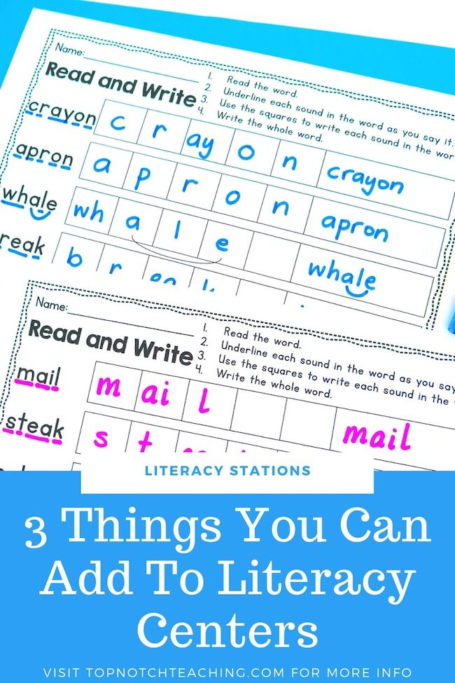 Do your literacy centers need a refresh? There are so many fun ways to help kids practice literacy skills. Here are 3 literacy station ideas to try now.