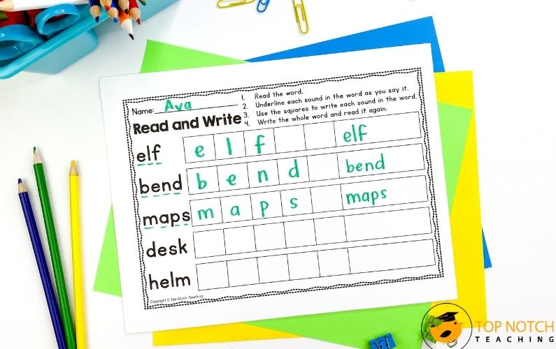 VCC and CVCC Words Worksheets and Activities