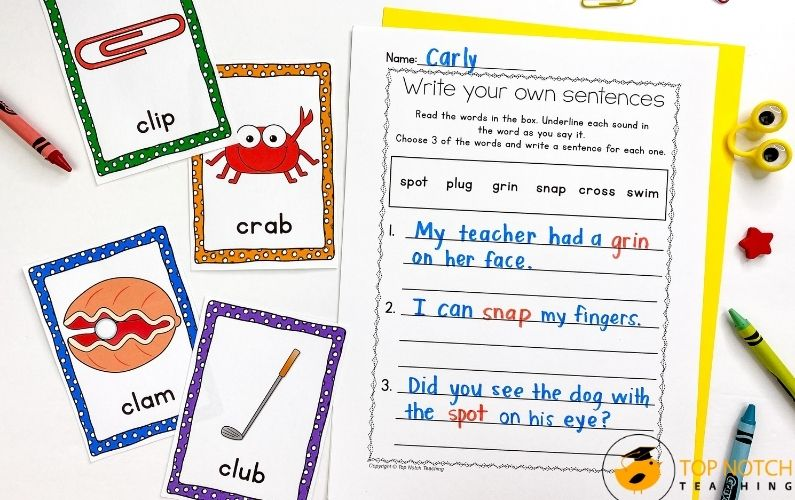 CCVC Words Worksheets and Activities