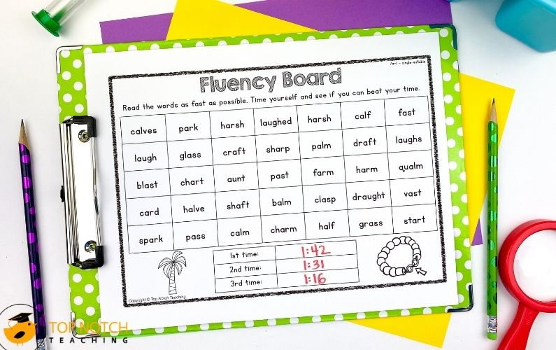 No Prep Phoneme /ar/ Words Worksheets and Activities