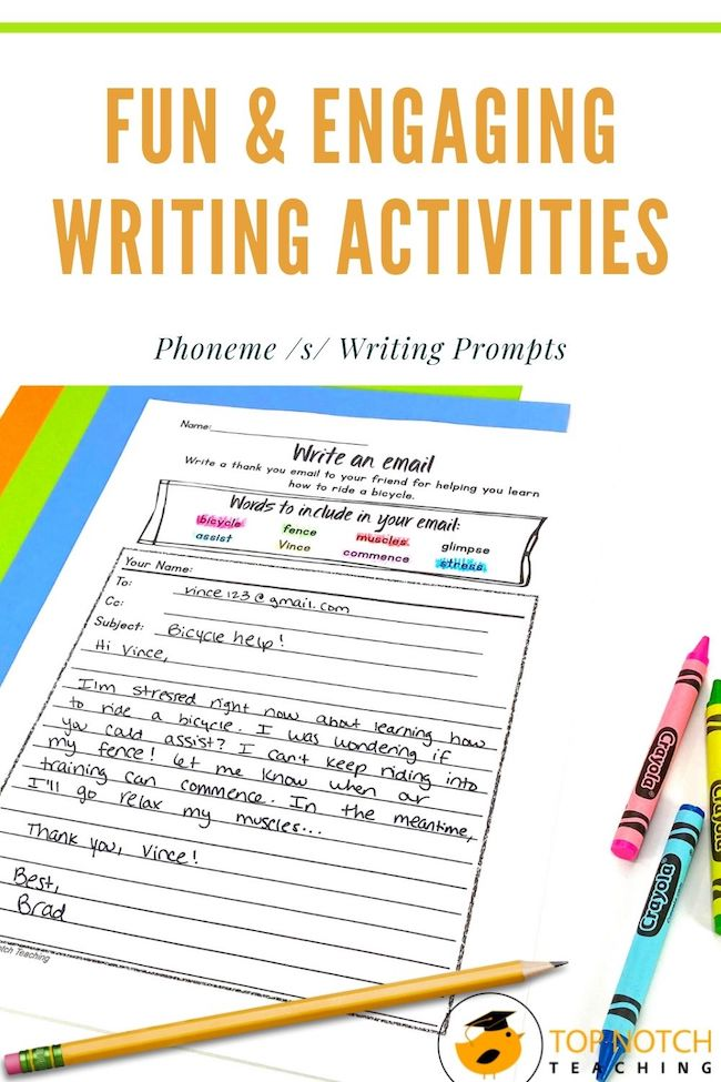 Help your students work on a variety of writing skills while also working on the phoneme s. They're the perfect addition to your writing centers.