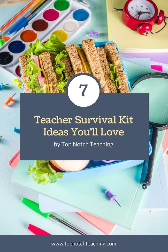 If you don't have a teacher survival kit, you can build your own. Here are 7 teacher survival kit ideas to help you set up your own or to use as a gift.