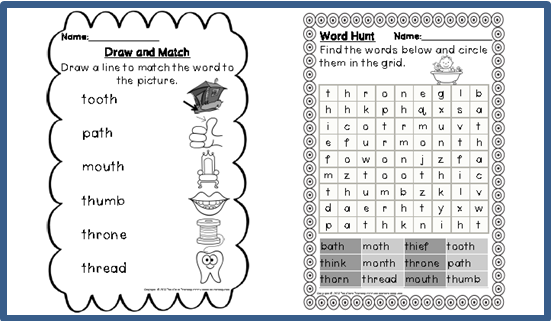 Digraph Activities, Games u0026 Worksheets {th} : Top Notch Teaching