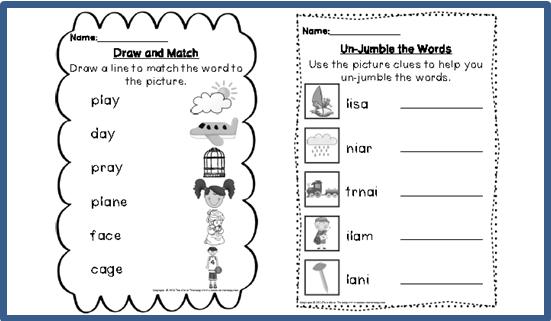 Worksheets Ai Ay Worksheets digraph activities games worksheets a e ai ay top notch teaching