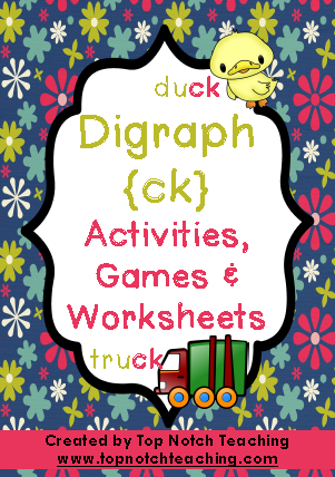 Digraph Activities, Games & Worksheets {ck} - Top Notch Teaching