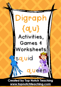 Digraph Activities, Games & Worksheets {qu} | topnotchteaching.com