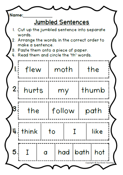 Digraph Activities, Games & Worksheets {th} - Top Notch Teaching