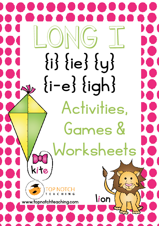 Long I Activities Games Worksheets Top Notch Teaching – Igh Worksheets