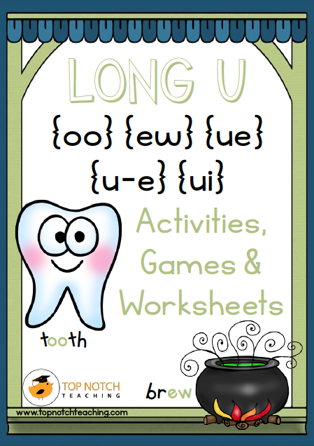 This pack includes reading, writing, matching and kinaesthetic activities for 'Long U'. These activities are great for individual or small group work. There are also posters that can be used for display and word wall cards that can be added to a word wall or used as flashcards.