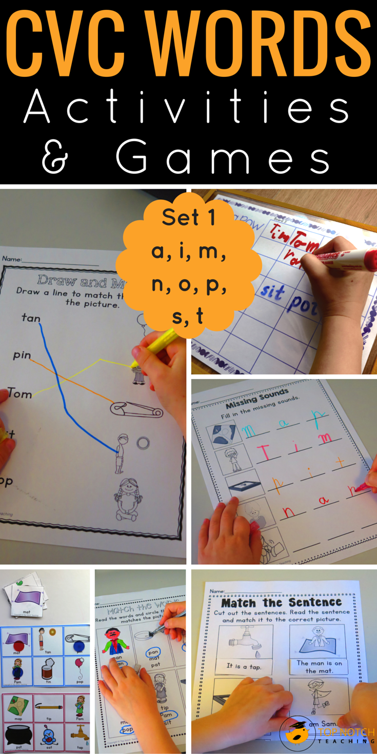 Are you teaching your kindergarten kids how to read and spell CVC words? Or maybe you're teaching your kids blending and segmenting skills? My students love these CVC activities, games and worksheets; especially the bingo and 4 in a row games.