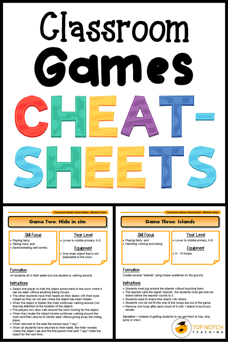 I'm going to share with you some of the best, time-tested class games that you can use to re-energize your students and get them back on track for learning.