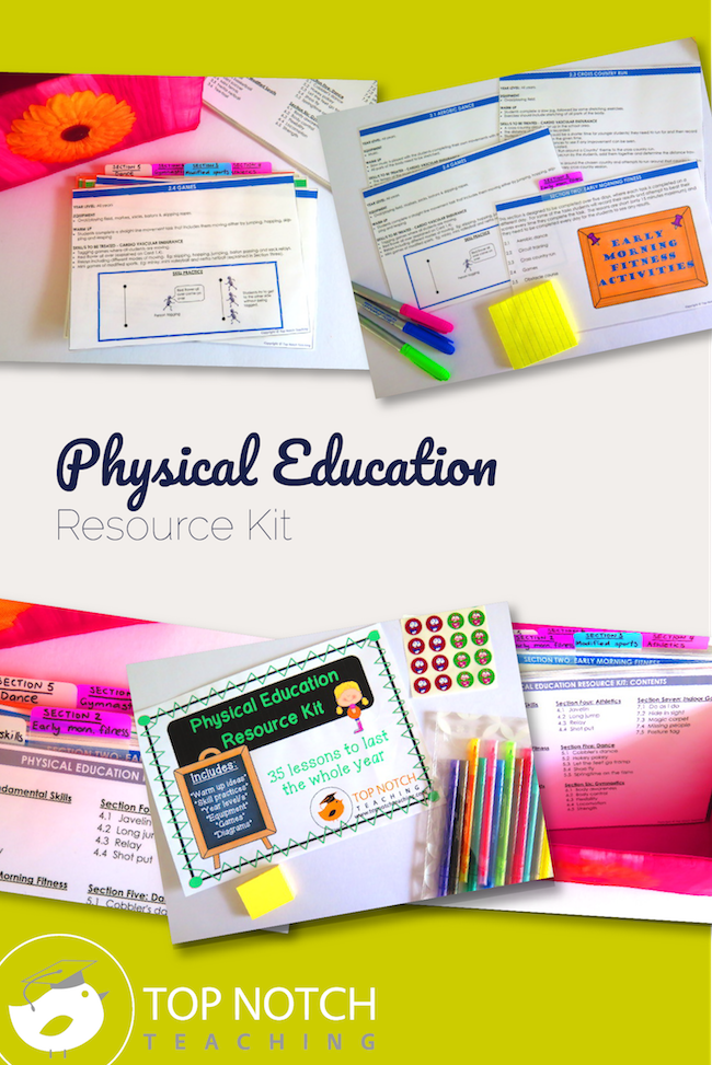 Do you want to simplify your physical education lesson planning? This kit provides 35 physical education lesson plans that will last the whole year.