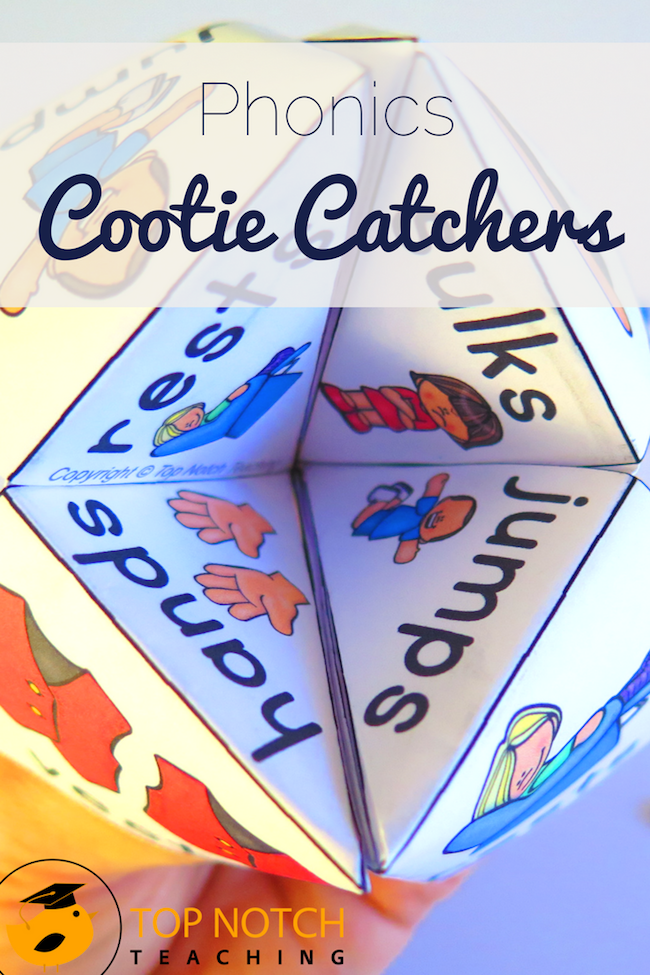 There are six individual packs in this phonics cootie catchers bundle that includes over 100 different cootie catchers—a great way to practice spelling.