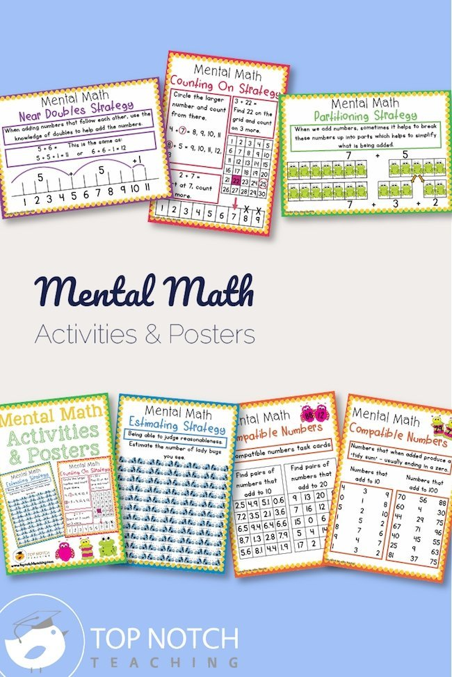 Mental math can be challenging—and so can learning the strategies. This mental math strategies pack makes it easy for you and keeps practice fun.