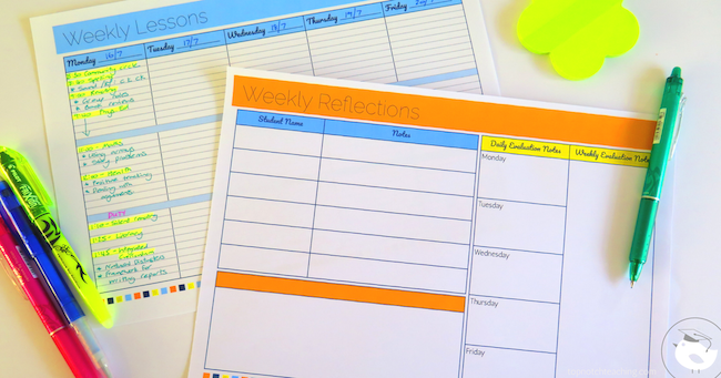 Are you looking for an easy way to keep track of important tasks and lessons? Then this printable lesson plan templates pack is just what you need!