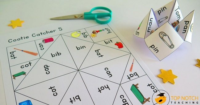 Keep phonics fun—and easy for you with cvc cootie catchers! These folded papers are a great way to practice the skills of blending and segmenting sounds.