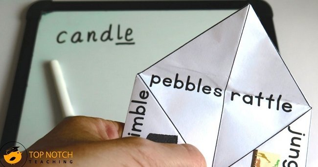 Cootie catchers are a fun way of combining a popular children's game with some practice in reading, writing and spelling words that contain digraphs.