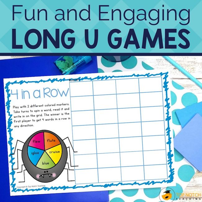 Help your students master reading and spelling the Long U sound with these fun and engaging games and worksheets that are perfect for word work centers.