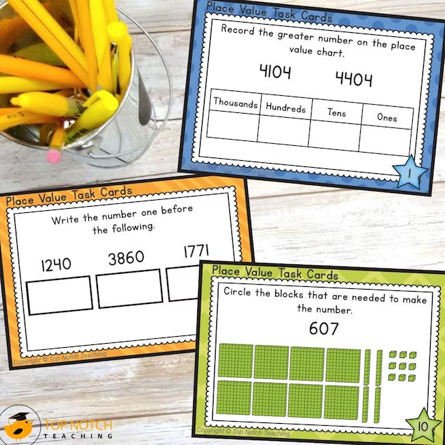 Help your students build a strong number sense with these place value cards. Students will work on identifying, comparing and ordering numbers to thousands.