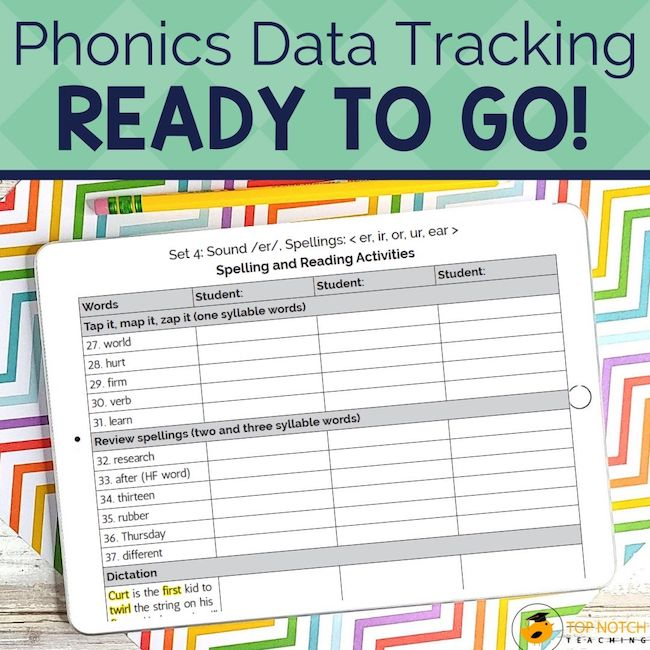 This monitoring progress bundle includes all of the student data tracking sheets you'll need to easily track your students' mastery of phonics skills.