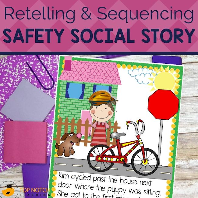 Help your students work on essential reading skills like story retell and sequencing using an original social story that is perfect to use for small groups.