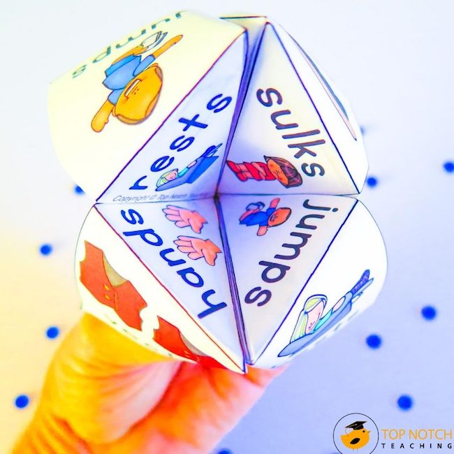 Your students will love these Consonant Blends Cootie Catchers and Fortune Tellers and you will love just how much reading and spelling practice they get!