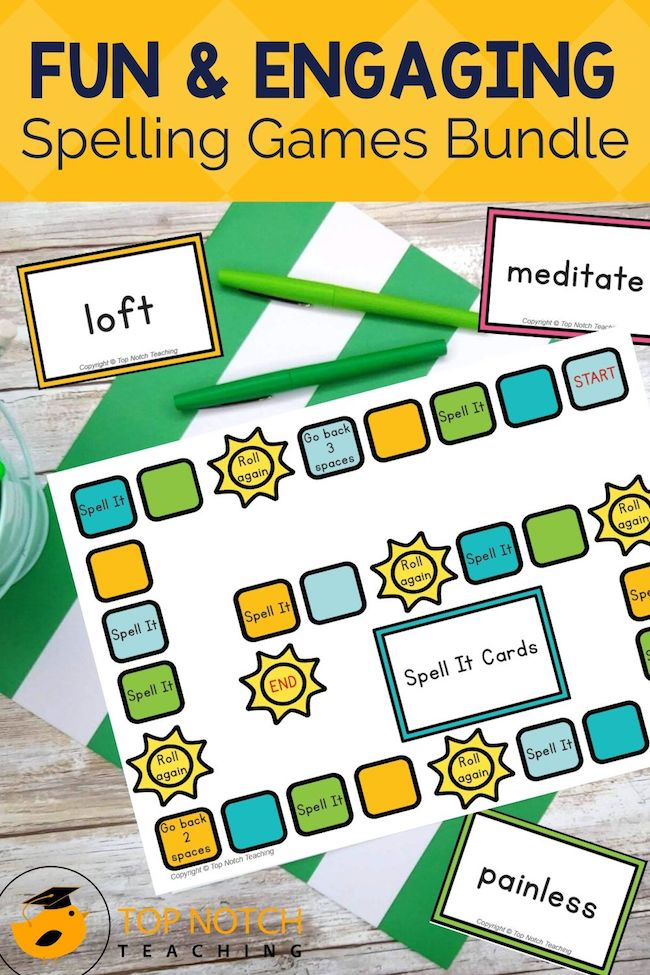 Students love these spelling word games and you will love all the spelling practice they get. This fun and engaging bundle is perfect for word work centers.