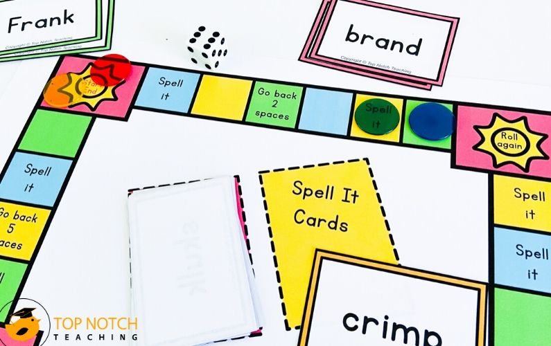 Your students will love practicing their spelling with these interactive spelling board games that are perfect for whole-class spelling and intervention.