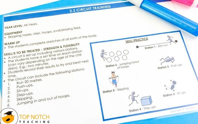 Quickly and easily plan your physical education lesson plans with these PE activities. Each lesson is on a separate card which makes it easy to grab and go!
