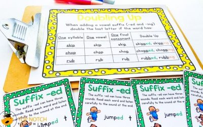 Suffix ED and ING Worksheets & Activities